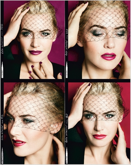 Kate Winslet for Lancome is inspiration for any femme fatale.