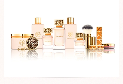 Designer Tory Burch said her mother's vanity table inspired her new fragrance and beauty collection.