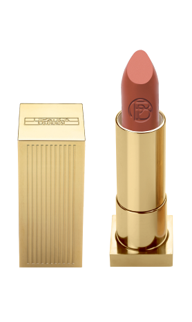 Lipstick Queen founder Poppy King says she had vintage Hollywood in mind when she created her Velvet Rope lipstick collection. Shown here is Star System, a nude with A-list oomph.