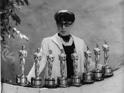 "Edith Head worked on film noir titles such as ""Double Indemnity,"" ""Sunset Blvd.,"" ""Rear Window"" and ""Vertigo."""