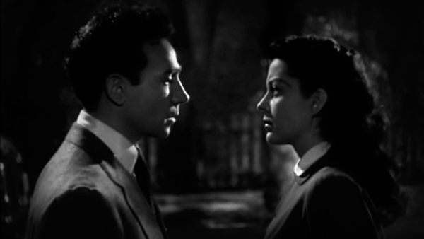 Dane Clark and Gail Russell play small-town lovers.