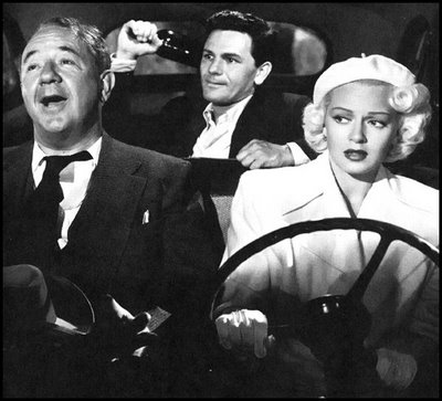 "Cecil Kellaway, John Garfield and Lana Turner play the members of the love triangle in ""Postman."""
