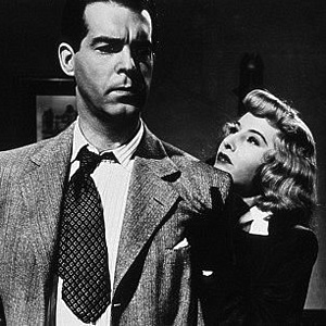 "Barbara Stanwyck and Fred MacMurray star in ""Double Indemnity"" from 1944. Both played against type."
