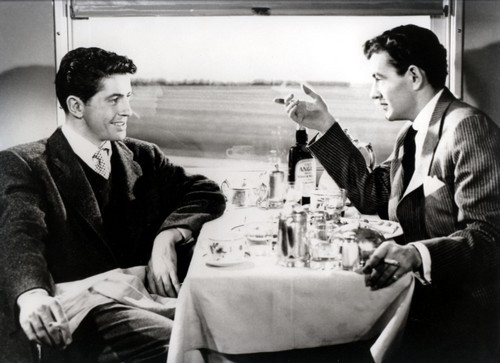 "Farley Granger (left) and Robert Walker give pitch-perfect performances in ""Strangers."""