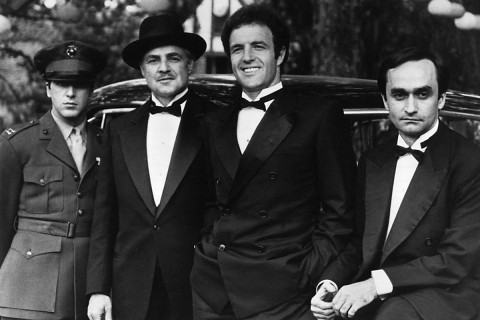 """The Godfather"" (1972) cast members: Maron Brando, James Caan, Al Pacino and xx. The classic family-crime saga won Best Picture. The movie also won Best Actor (Marlon Brando) and Writing – Screenplay based on material from another medium (Mario Puzo and Francis Ford Coppola). ""The Godfather Part II"" (1974) became the first sequel to win the award for Best Picture. Part Two claimed five more Oscars including the directing prize for Coppola."