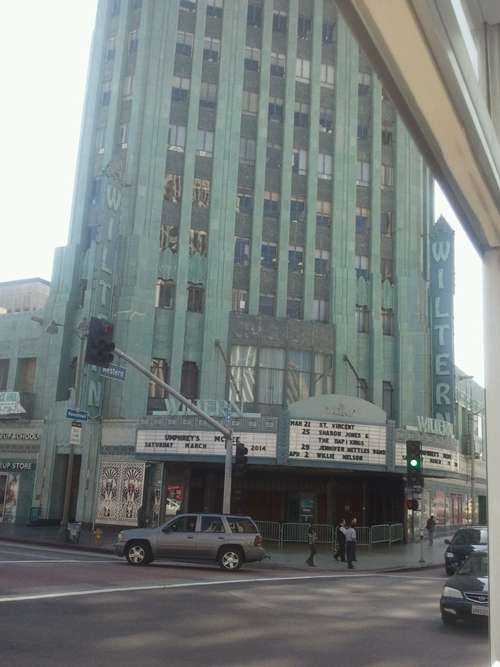 The Wiltern Theatre at Wilshire Boulevard and Western Avenue