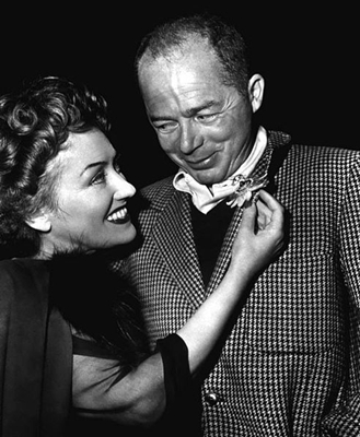"""Sunset Blvd."" won three Oscars: writing, music and art direction. Shown: Gloria Swanson and Billy Wilder."