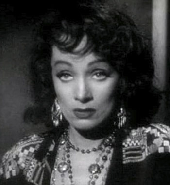 Marlene Dietrich as Tana plays the pianola and makes great chili.