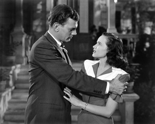 "Joseph Cotten and Teresa Wright star in ""Shadow."""