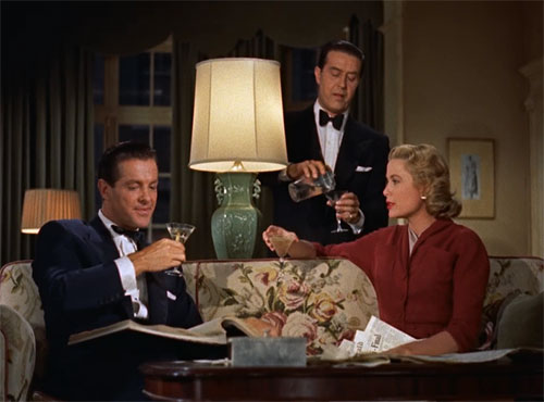 """Robert Cummings, Ray Milland and Grace Kelly form the love triangle in """"Dial  M for Murder."""""""