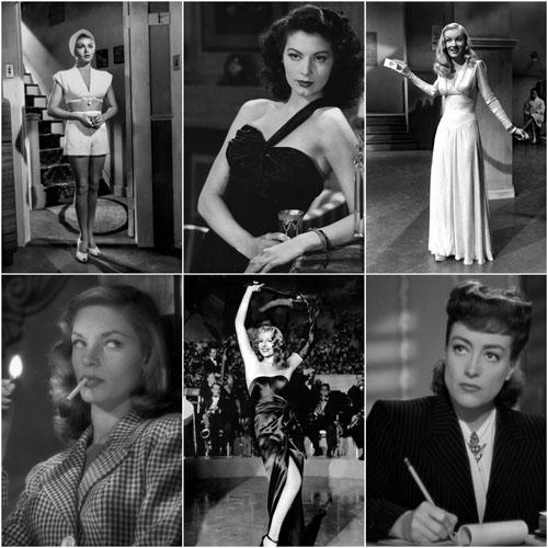 Lana Turner, Ava Gardner, Veronica Lake, Lauren Bacall, Rita Hayworth and Joan Crawford.