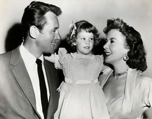 Ida Lupino juggled work and family. Shown: Ida with her husband Howard Duff and daughter Bridget.