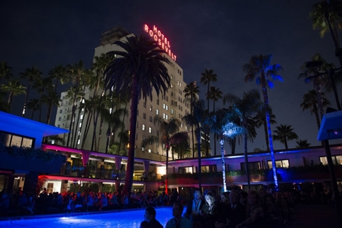 Poolside screenings at the Hollywood Roosevelt are a special treat.