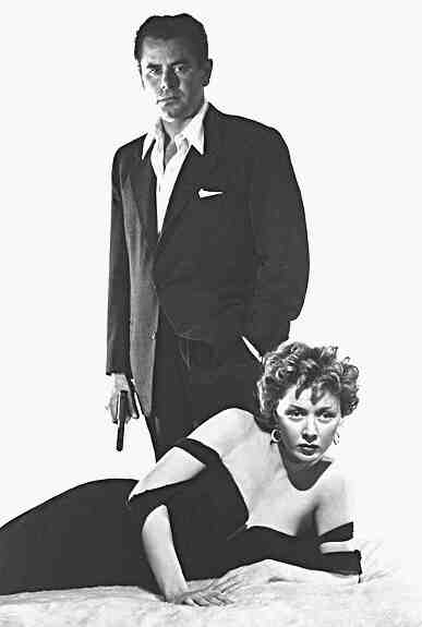 "Glenn Ford and Gloria Grahame sizzle in ""The Big Heat."""