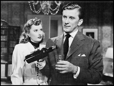 "Barbara Stanwyck plays the tough-as-nails title broad in ""Martha Ivers."" Kirk Douglas plays her husband."