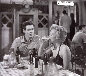 "Robert Ryan and Marilyn Monroe are bored with small-town life in ""Clash by Night."""