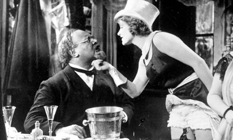 "Putty in her hands: The magnificent Marlene Dietrich and the malleable Emil Jannings star in ""The Blue Angel."""