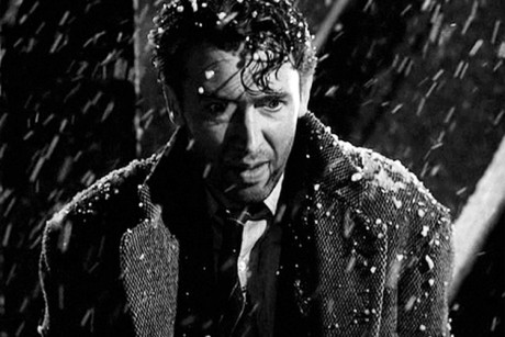 "James Stewart falls into a Christmas nightmare in ""It's a Wonderful Life."""